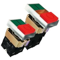 Выключатели кнопочные двойные серий ПЕ-22-PPBB, ПЕ-22-BL