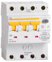 Автоматические выключатели дифференциального тока АВДТ34 на токи 6-63А