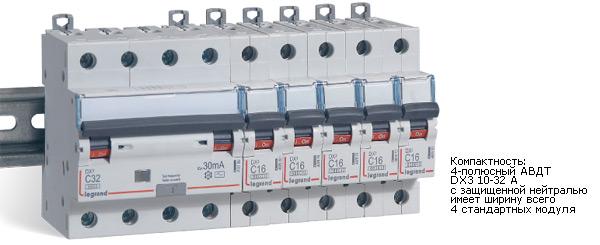 Дифференциальные блоки DX³ для автоматических выключателей с шириной полюса 1,5 модуля