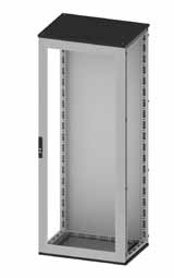 Сборные шкафы CQE, с прозрачной дверью и задней панелью