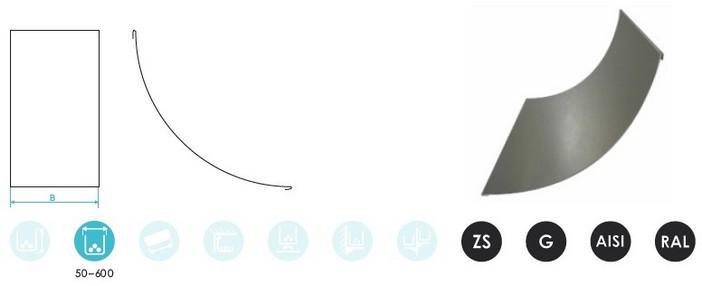 Крышки поворота 90° вертикального внутреннего CLIVE