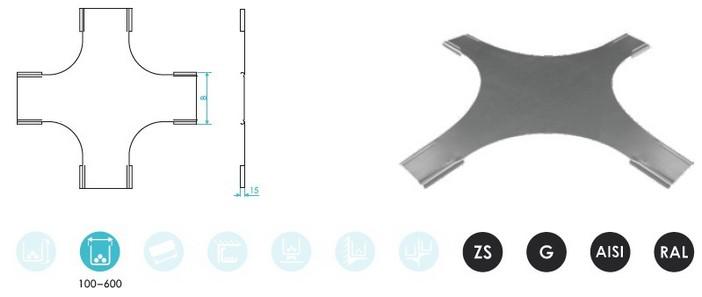 Крышки угла Х-образного для лестничного лотка