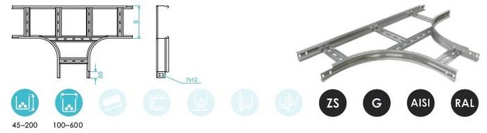 Углы Т-образные лестничного лотка CLIVE
